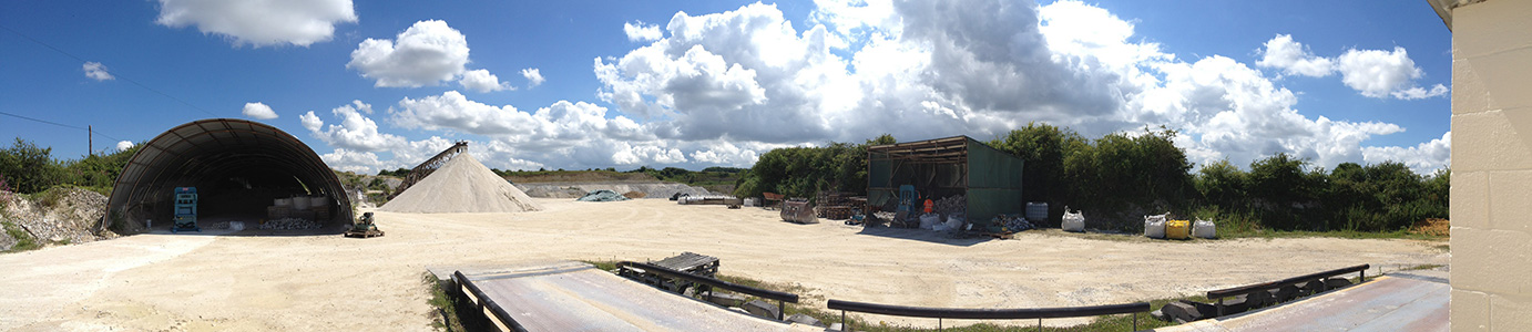 Panoramic view of the quarry on a summer's day.